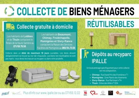 Collecte à domicile de vos biens réutilisables